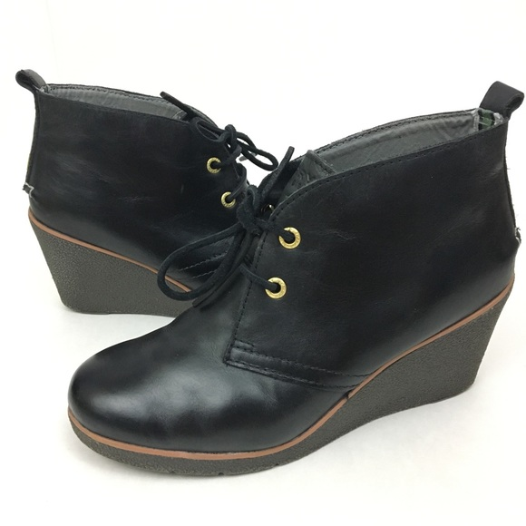 1f1b451fde1 ... Harlow Burnished wedge bootie. M 5b5755ecf41452c640668504
